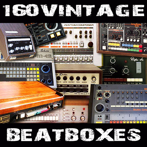 Product picture 160 vintage drum machines oldschool beatboxes wav sample
