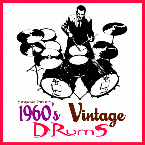 Product picture 1960s sixties vintage acoustic live drums 1960 drumkit